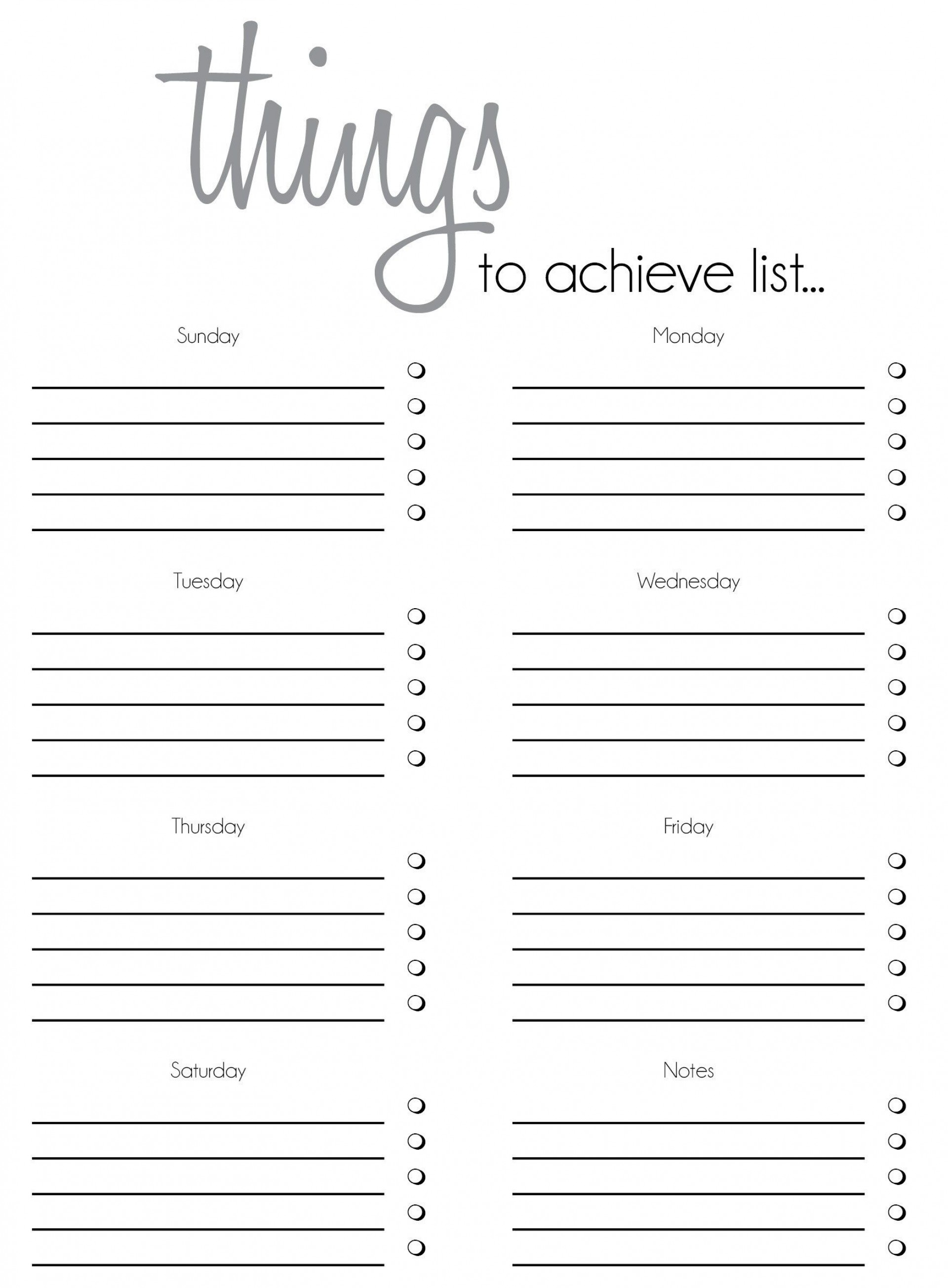 010 Outstanding Thing To Do List Template Example 1920
