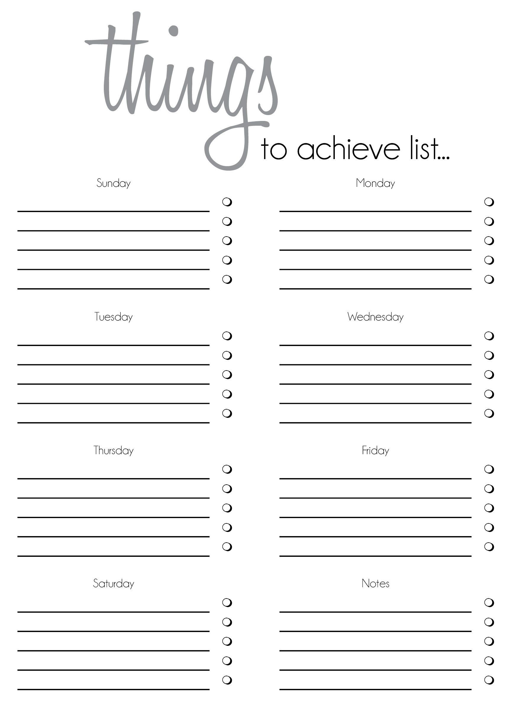010 Outstanding Thing To Do List Template Example Full