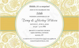 010 Phenomenal 50th Wedding Anniversary Invitation Template Highest Clarity  Templates Golden Uk Free Download