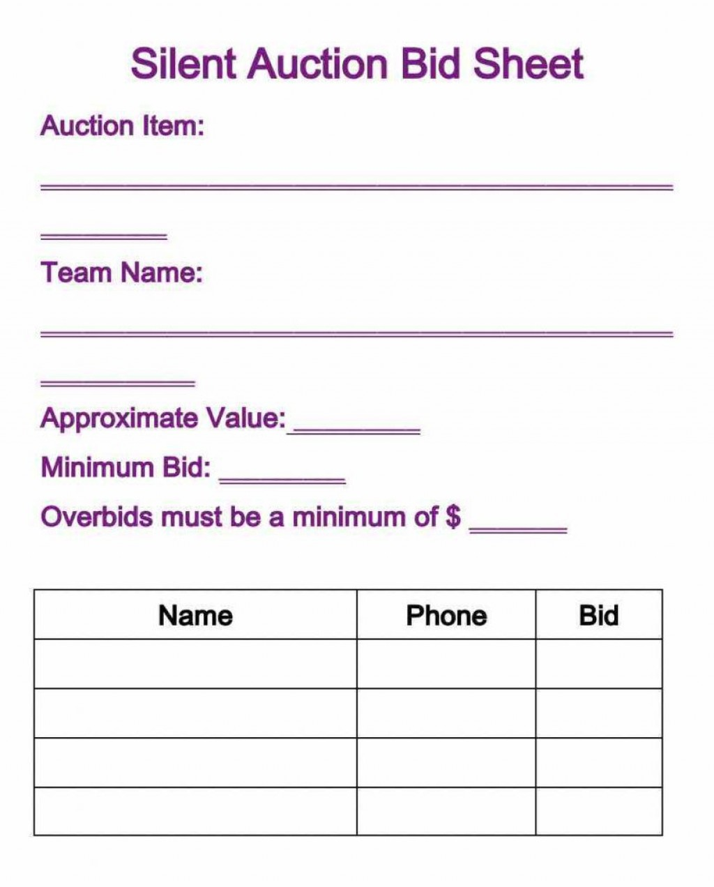 010 Phenomenal Silent Auction Donation Certificate Template Example Large