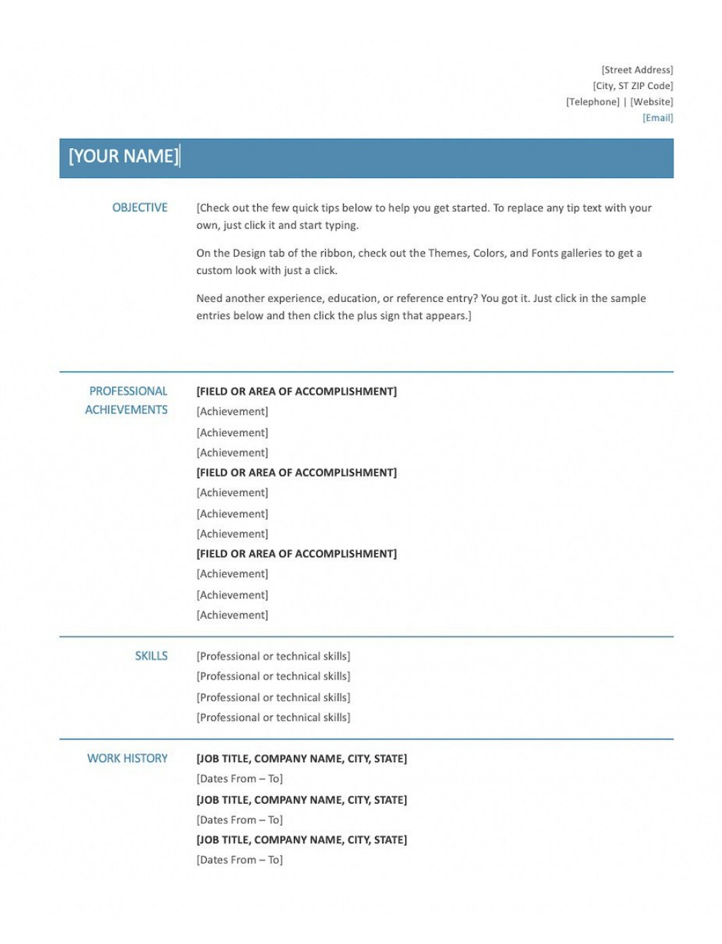 010 Rare Basic Resume Template Word Idea  Free Download 2020Large