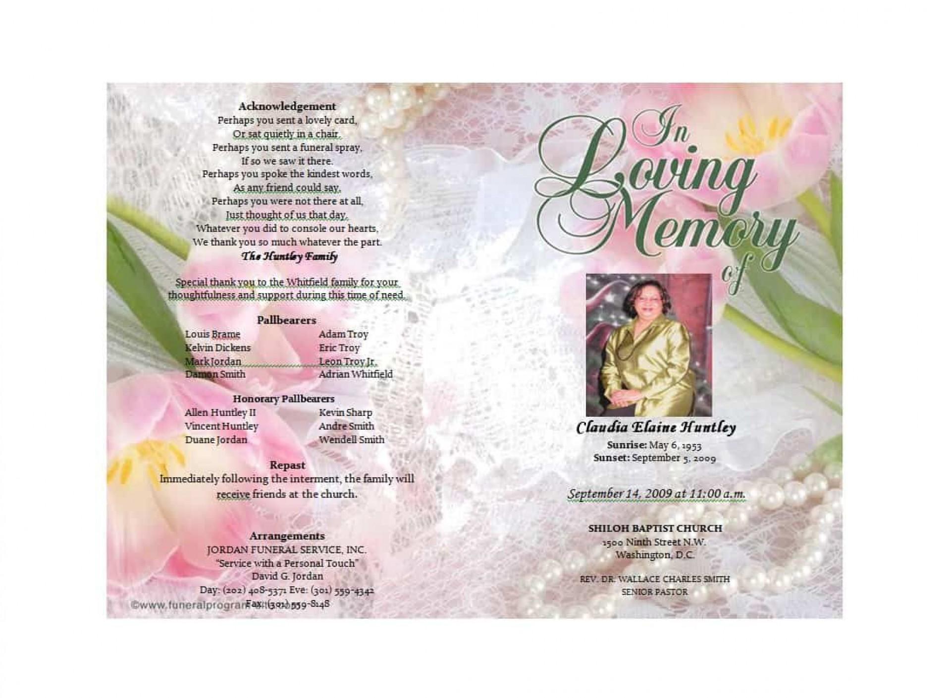 010 Rare Free Funeral Program Template Download Idea  2010 Downloadable Editable Pdf Blank1920