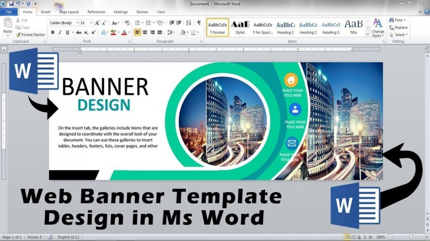 010 Rare Microsoft Word Banner Template High Resolution  Free M Birthday868