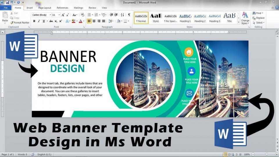 010 Rare Microsoft Word Banner Template High Resolution  Free M Birthday960