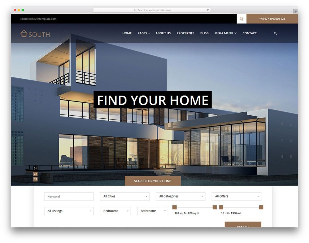 010 Rare Real Estate Website Template High Resolution  Templates Free Download Bootstrap 4 Listing WordpresLarge