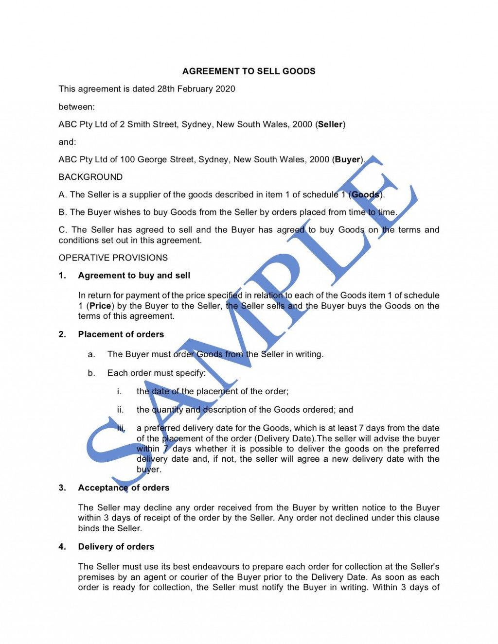 010 Rare Sale Agreement Template Australia Concept  Busines Horse Car ContractLarge
