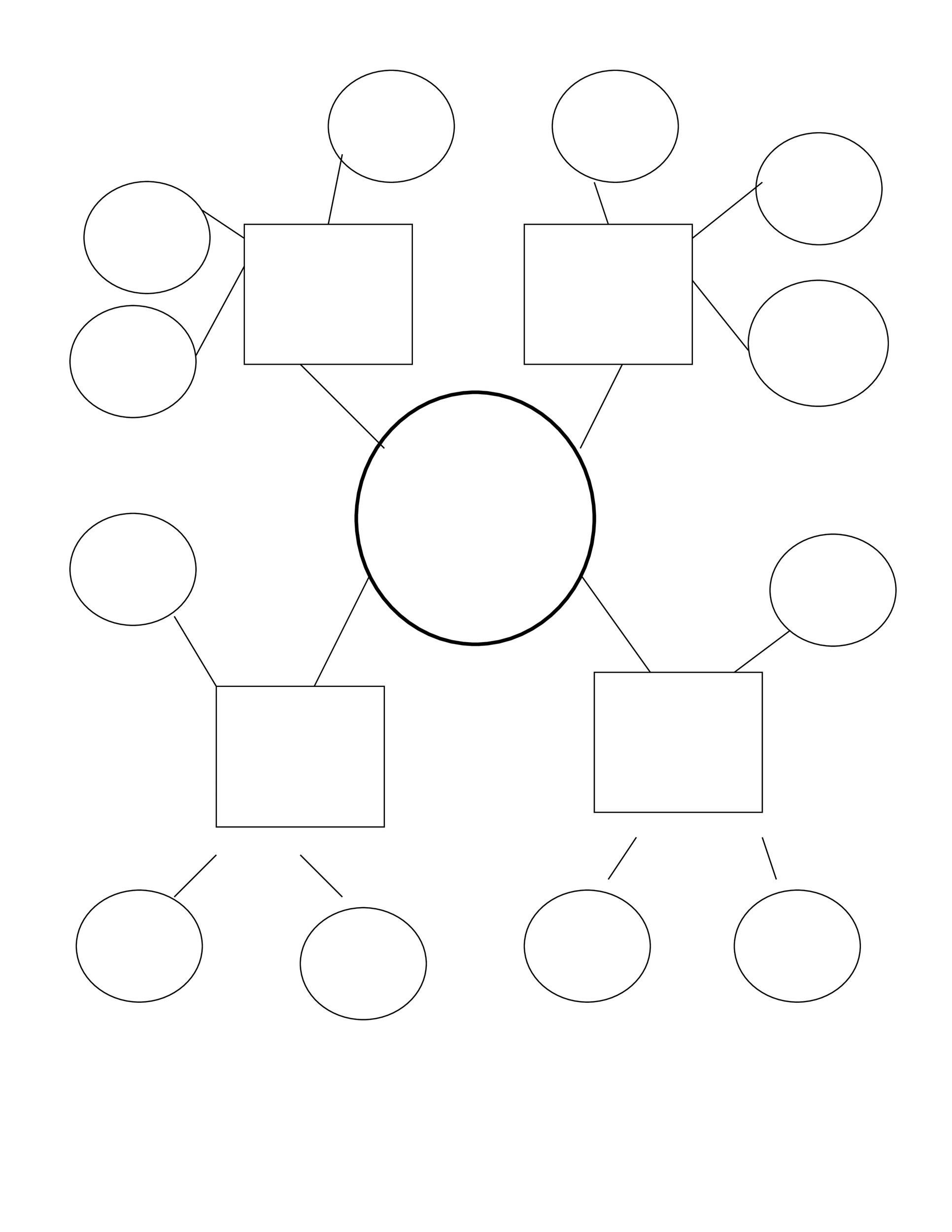 010 Remarkable Free Blank Concept Map Template Sample  Printable NursingFull
