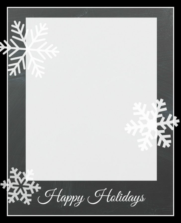 010 Remarkable Free Photo Card Template Idea  Printable Christma Holiday728