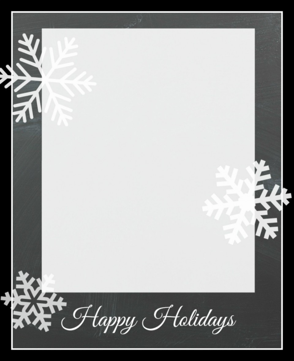 010 Remarkable Free Photo Card Template Idea  Printable Holiday Christma For Word Online960