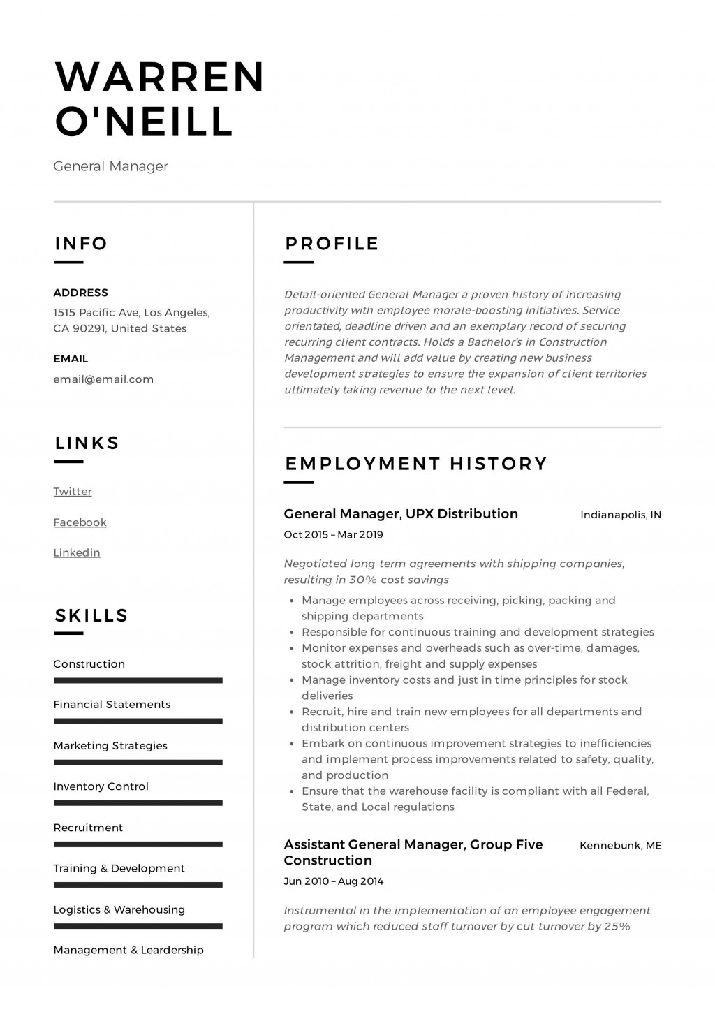 010 Remarkable Resume Example Pdf Free Download High Definition Large