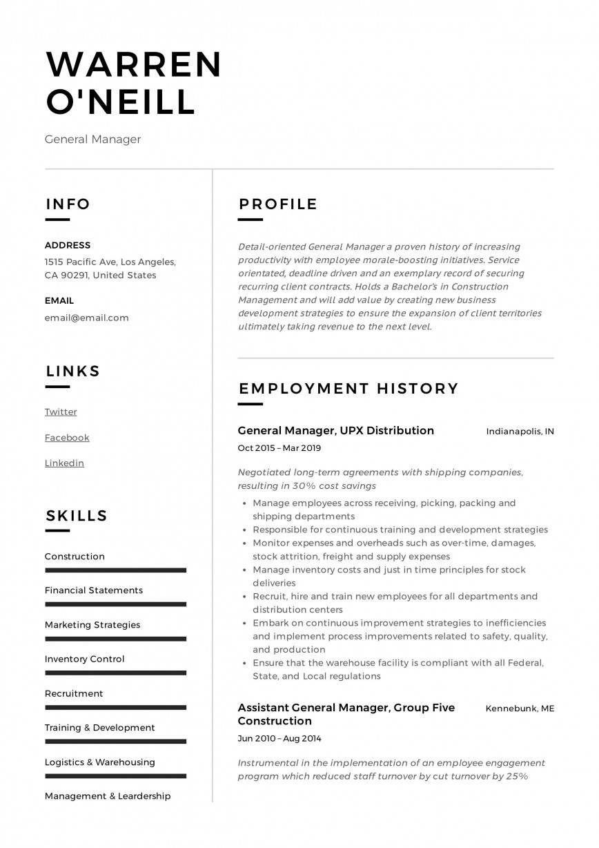010 Remarkable Resume Example Pdf Free Download High Definition