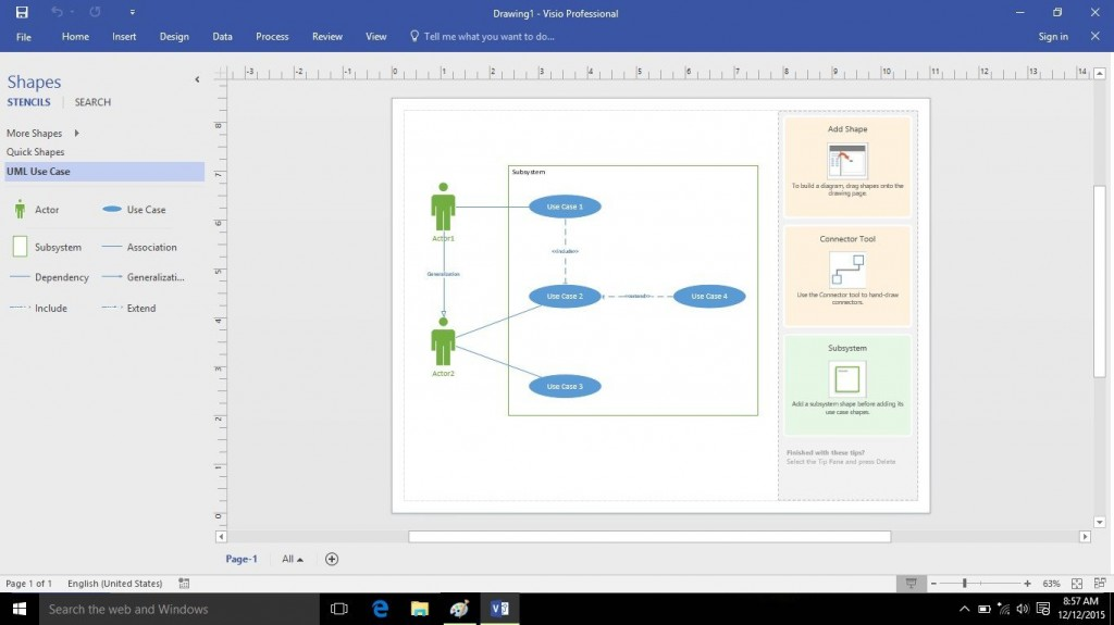 010 Remarkable Use Case Diagram Microsoft Visio 2010 Example Large