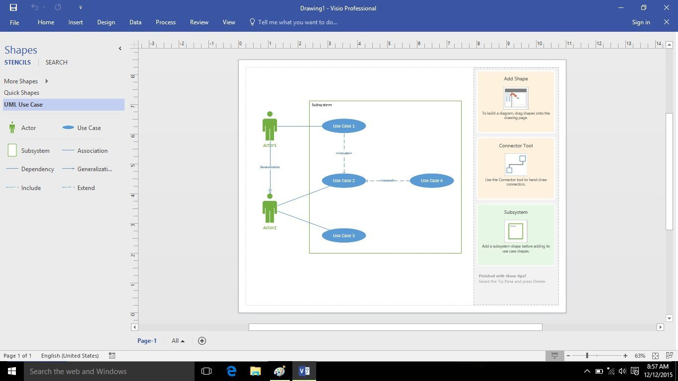 010 Remarkable Use Case Diagram Microsoft Visio 2010 Example Full
