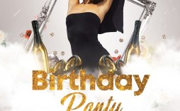 010 Sensational Birthday Flyer Template Psd Free Download Example