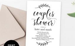 010 Sensational Free Couple Shower Invitation Template Download Sample  Downloads
