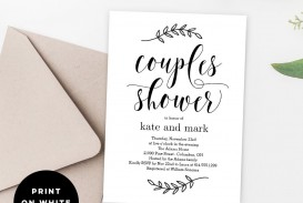 010 Sensational Free Couple Shower Invitation Template Download Sample
