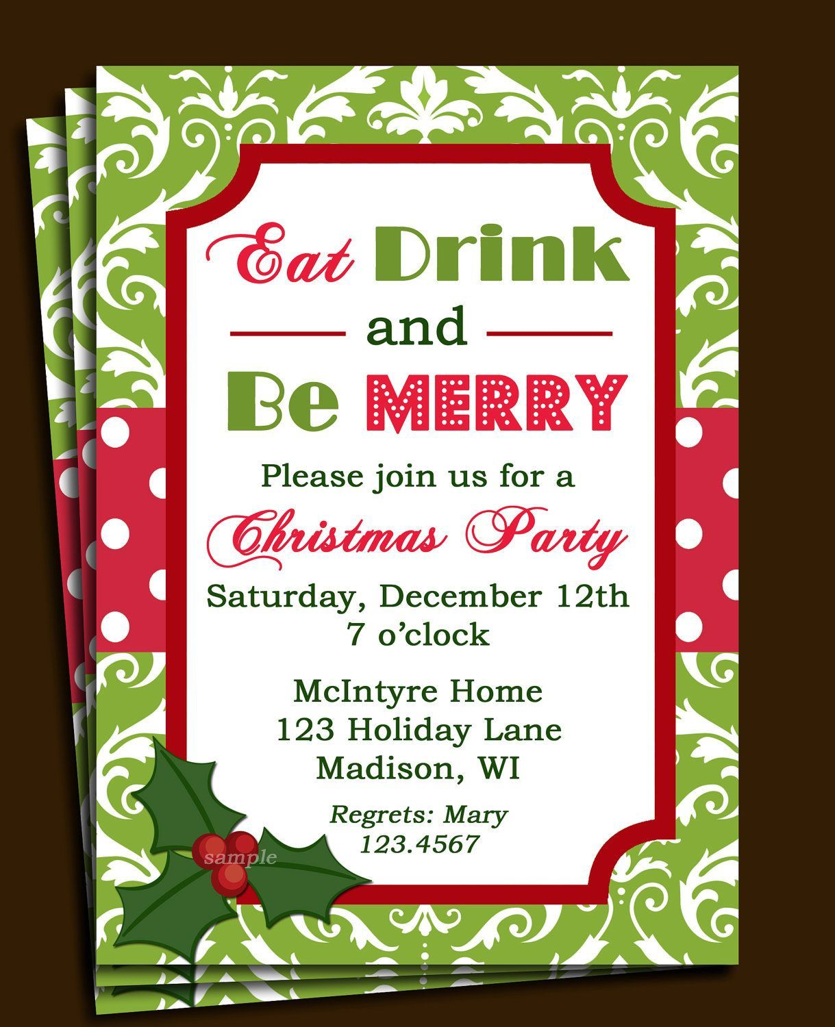010 Sensational Holiday Party Invite Template Word Photo  Cocktail Invitation Wording Sample Microsoft ChristmaFull