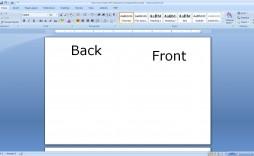 010 Sensational Microsoft Word Card Template High Resolution  Birthday Half Fold Place Download Free