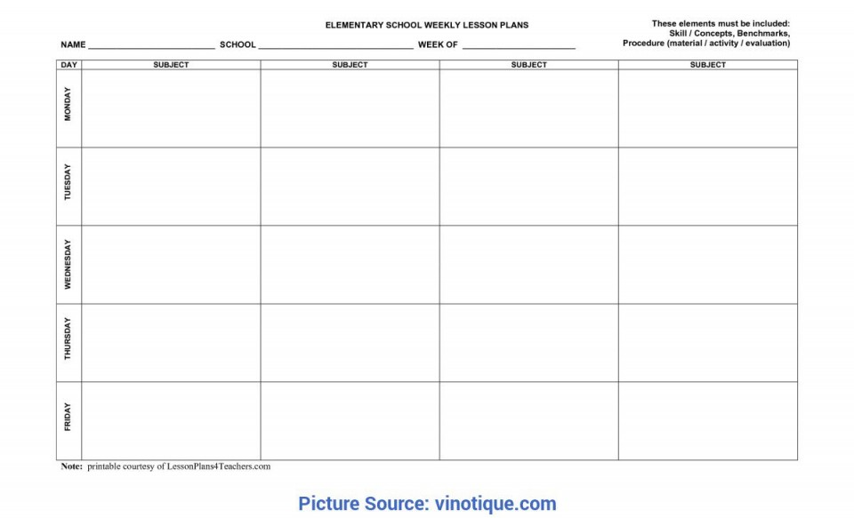 010 Sensational Weekly Lesson Plan Template Inspiration  Blank Free High School Danielson Google Doc960