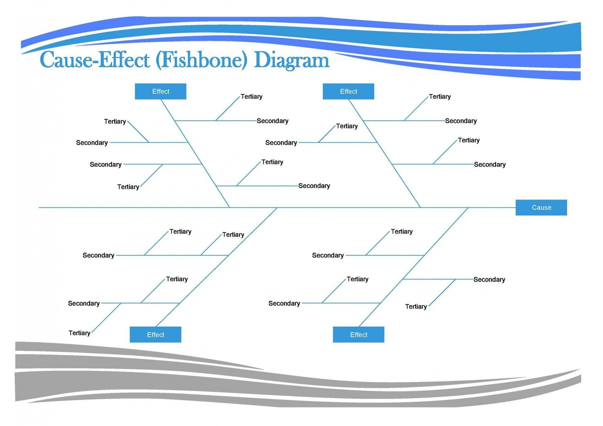 Free Fishbone Diagram Template Word Download Addictionary