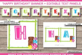 010 Shocking Happy Birthday Banner Template Picture  Publisher Editable Pdf
