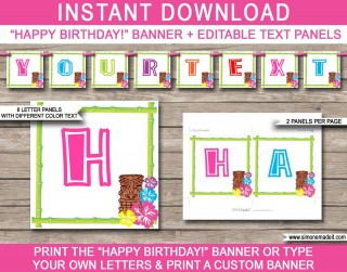 010 Shocking Happy Birthday Banner Template Picture  Publisher Editable Pdf320