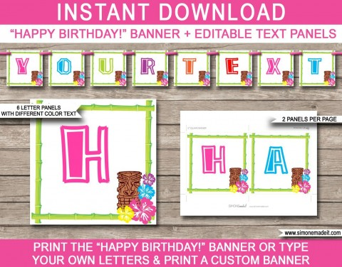 010 Shocking Happy Birthday Banner Template Picture  Publisher Editable Pdf480