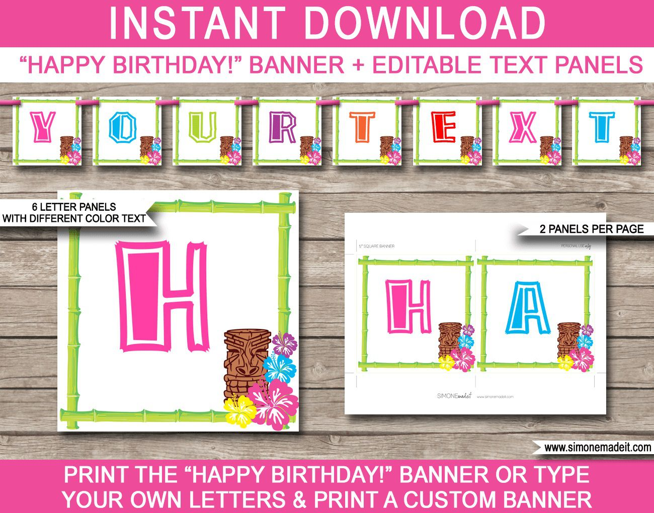 010 Shocking Happy Birthday Banner Template Picture  Publisher Editable PdfFull