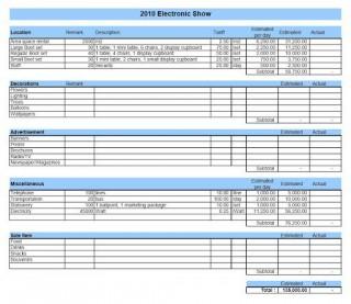 010 Shocking Line Item Budget Template Excel Design 320