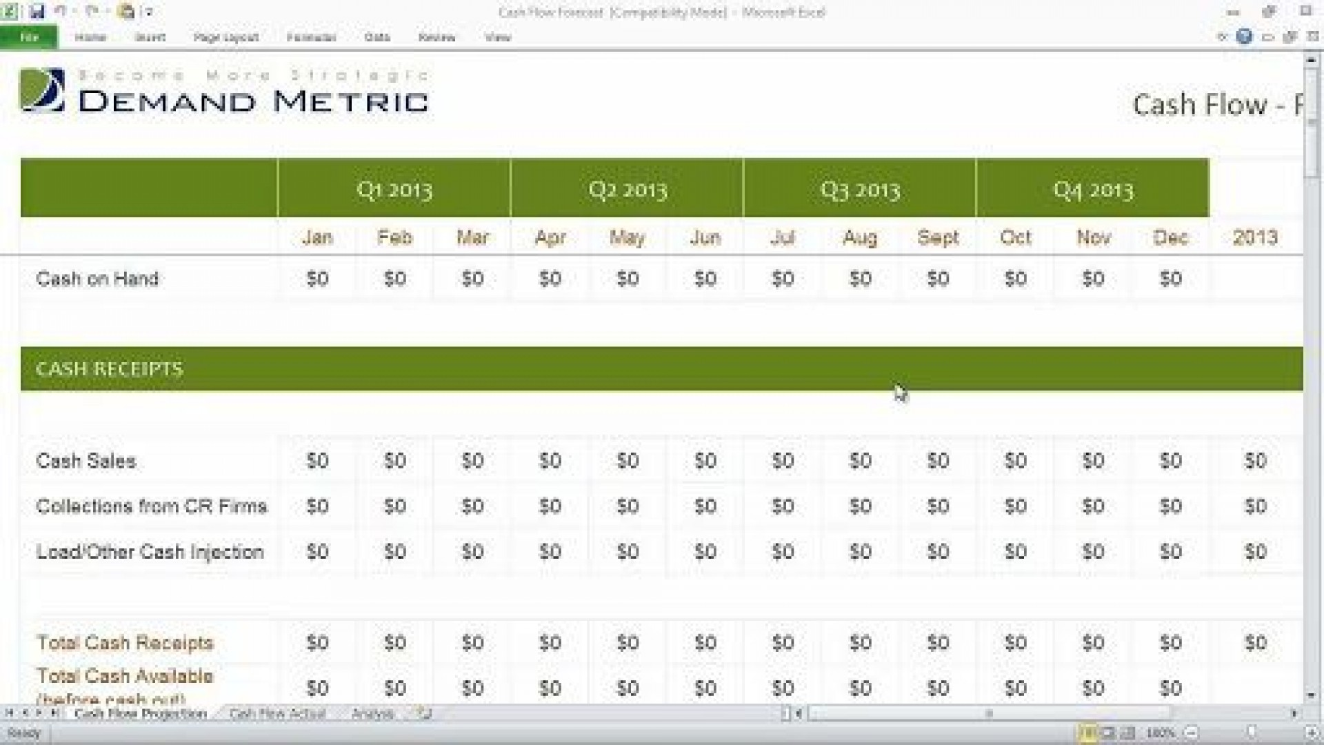 010 Shocking Microsoft Excel Weekly Cash Flow Template Highest Clarity  Forecast1920