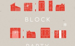 010 Simple Block Party Flyer Template Picture  Templates Free