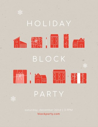 010 Simple Block Party Flyer Template Picture  Free320