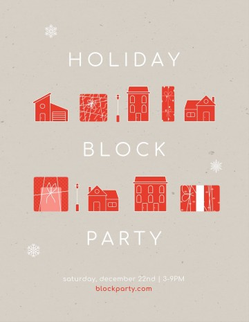 010 Simple Block Party Flyer Template Picture  Free360