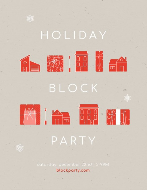 010 Simple Block Party Flyer Template Picture  Free480
