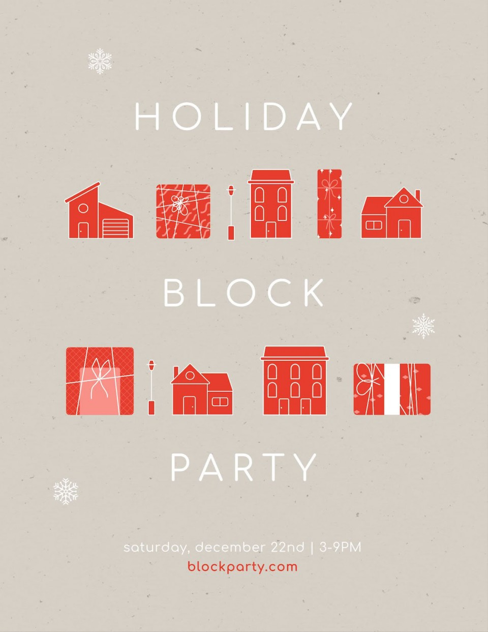 010 Simple Block Party Flyer Template Picture  Free960