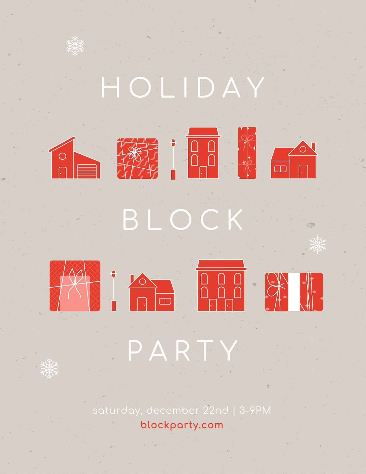 010 Simple Block Party Flyer Template Picture  Templates FreeFull