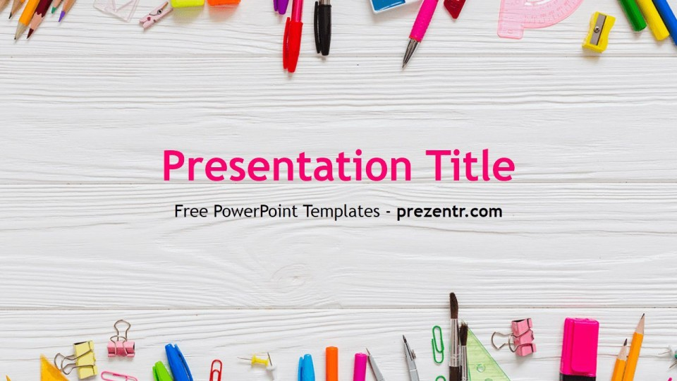 010 Simple Free Education Ppt Template Design  Powerpoint For Teacher Creative Download Professional960