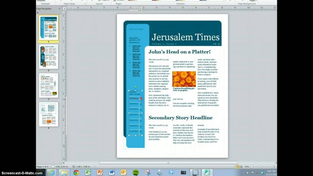 010 Simple Magazine Template For Microsoft Word Highest Quality  Layout Design DownloadLarge