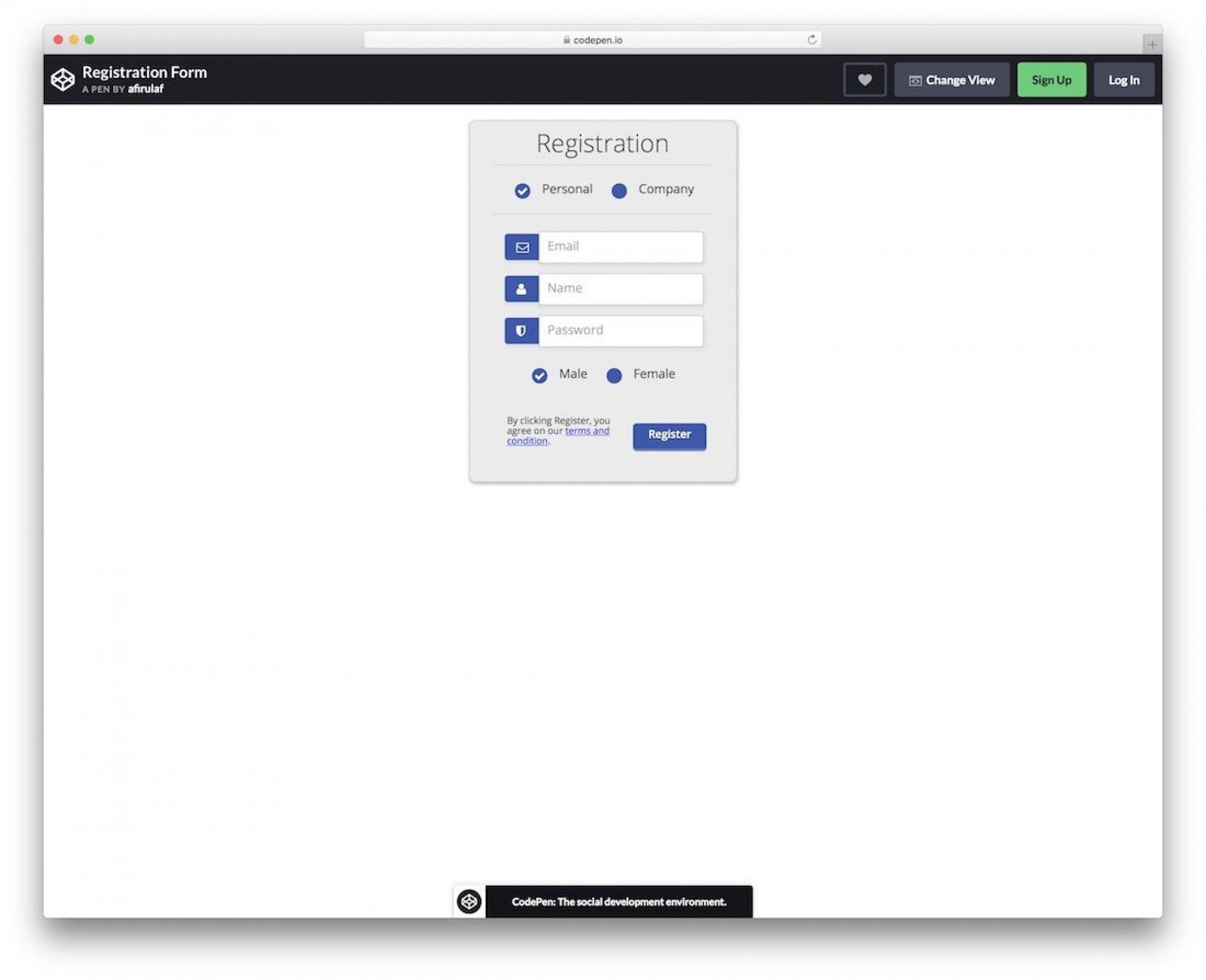 010 Simple Registration Form Template Free Sample  Printable Event1920