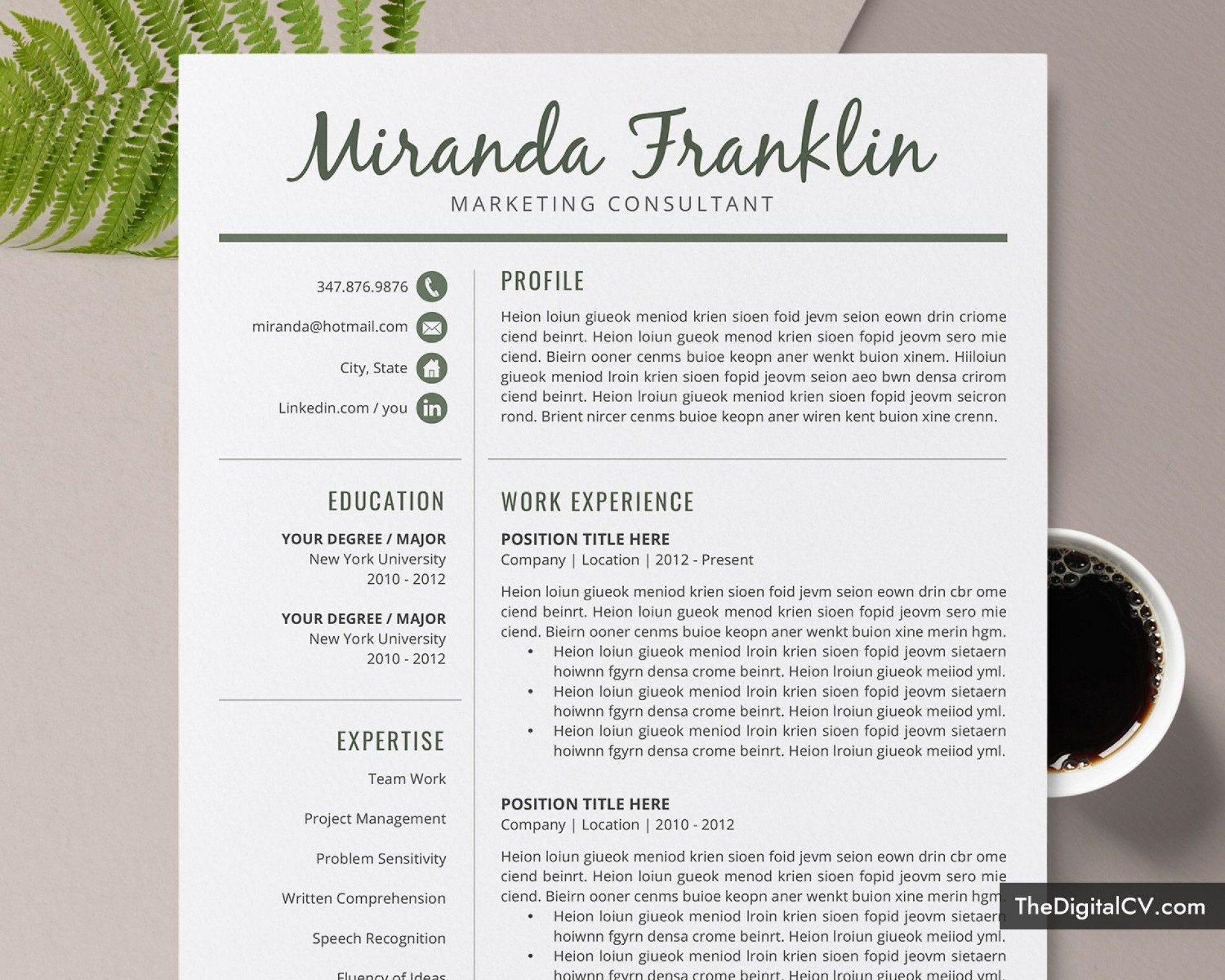 010 Simple Resume Template Microsoft Word 2007 High Definition  In Office M1920