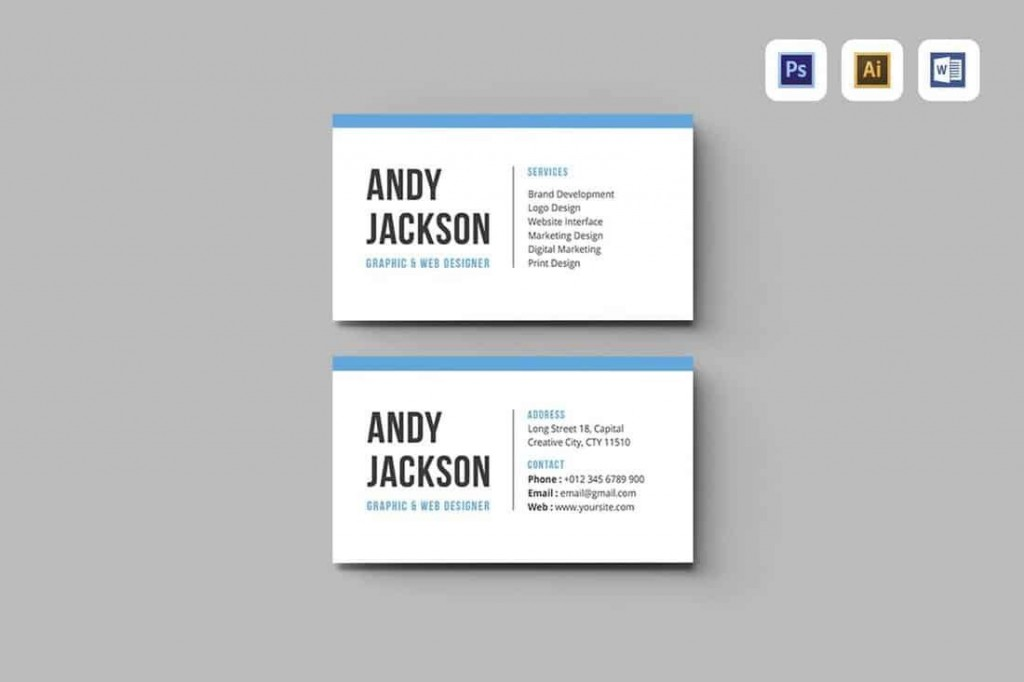 010 Simple Busines Card Template Microsoft Word High Resolution Large