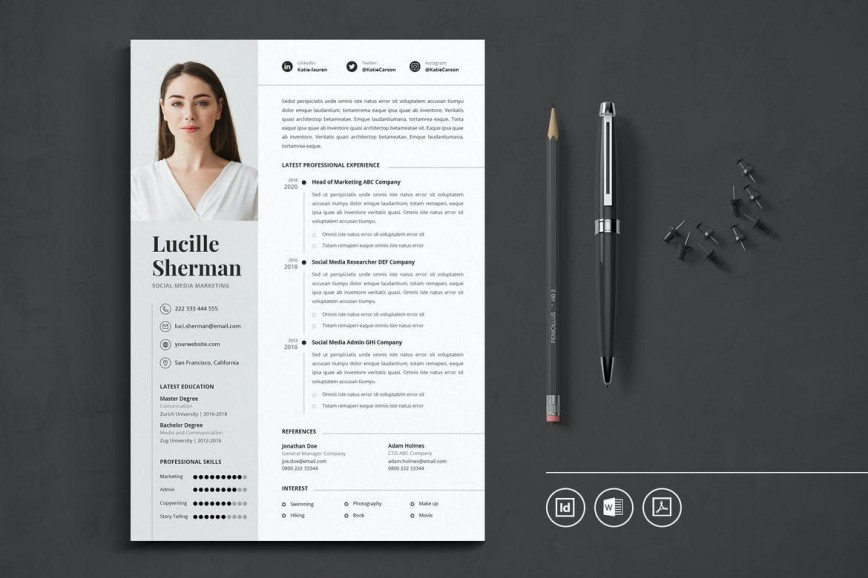010 Singular Best Free Resume Template 2020 Highest Quality  Review Word