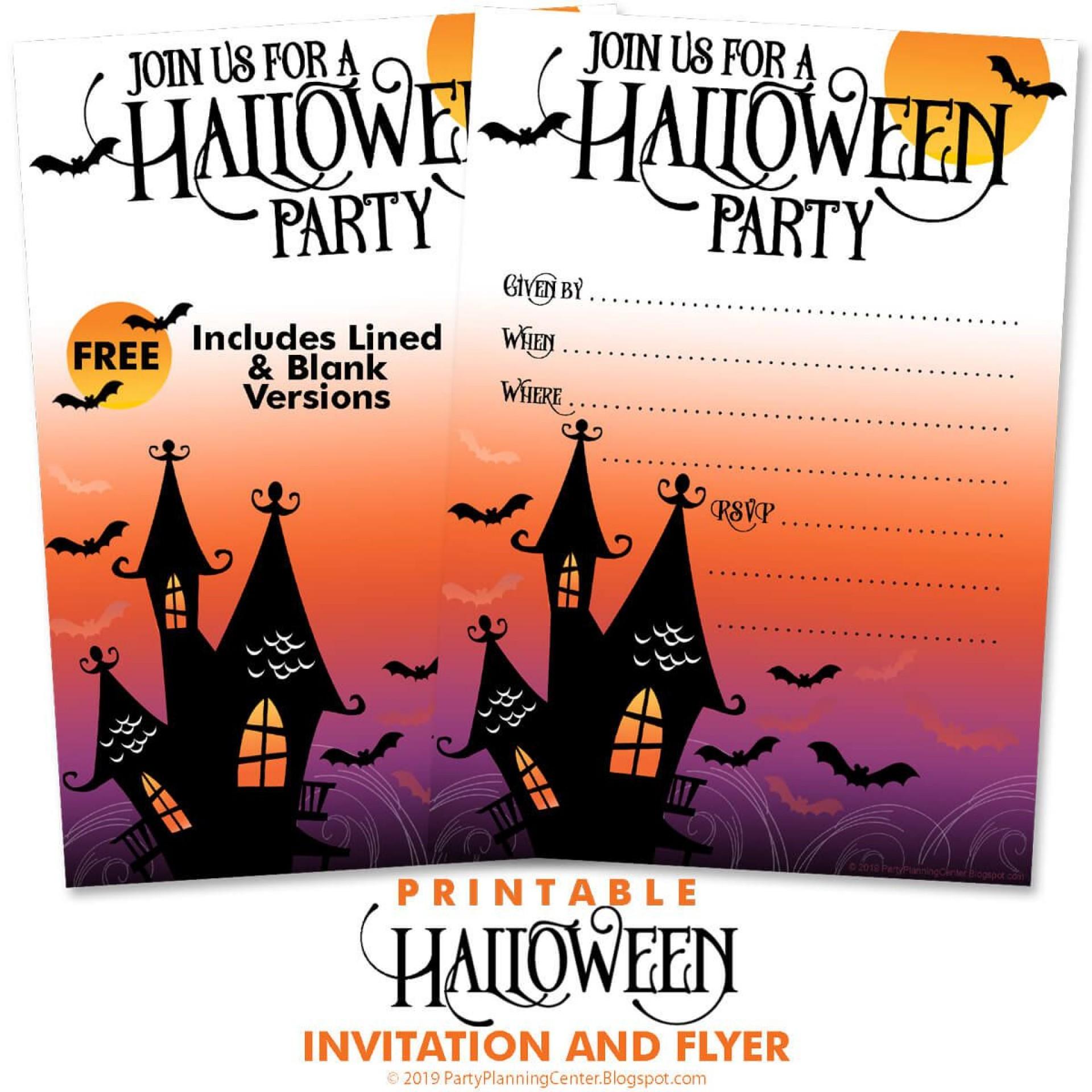 010 Singular Free Halloween Invitation Template Picture  Templates Microsoft Word Wedding Printable Party1920