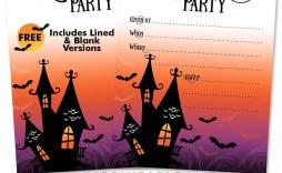 010 Singular Free Halloween Invitation Template Picture  Templates Microsoft Word Wedding Printable Party
