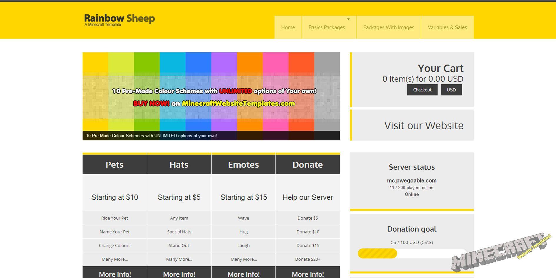 010 Singular Minecraft Website Template Html Free Download High Resolution Full