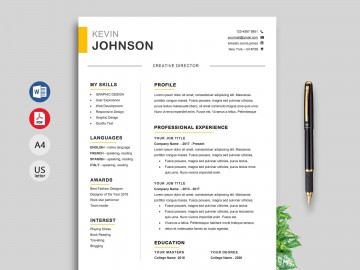 010 Singular Modern Cv Template Word Free Download 2019 High Definition 360