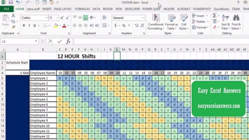 Excel Shift Schedule Template ~ Addictionary