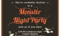 010 Staggering Halloween Party Invitation Template Inspiration  Microsoft Block October