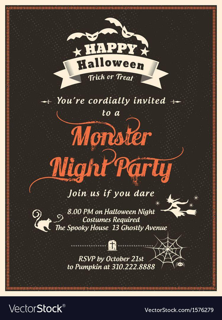 010 Staggering Halloween Party Invitation Template Inspiration  Microsoft Block OctoberFull