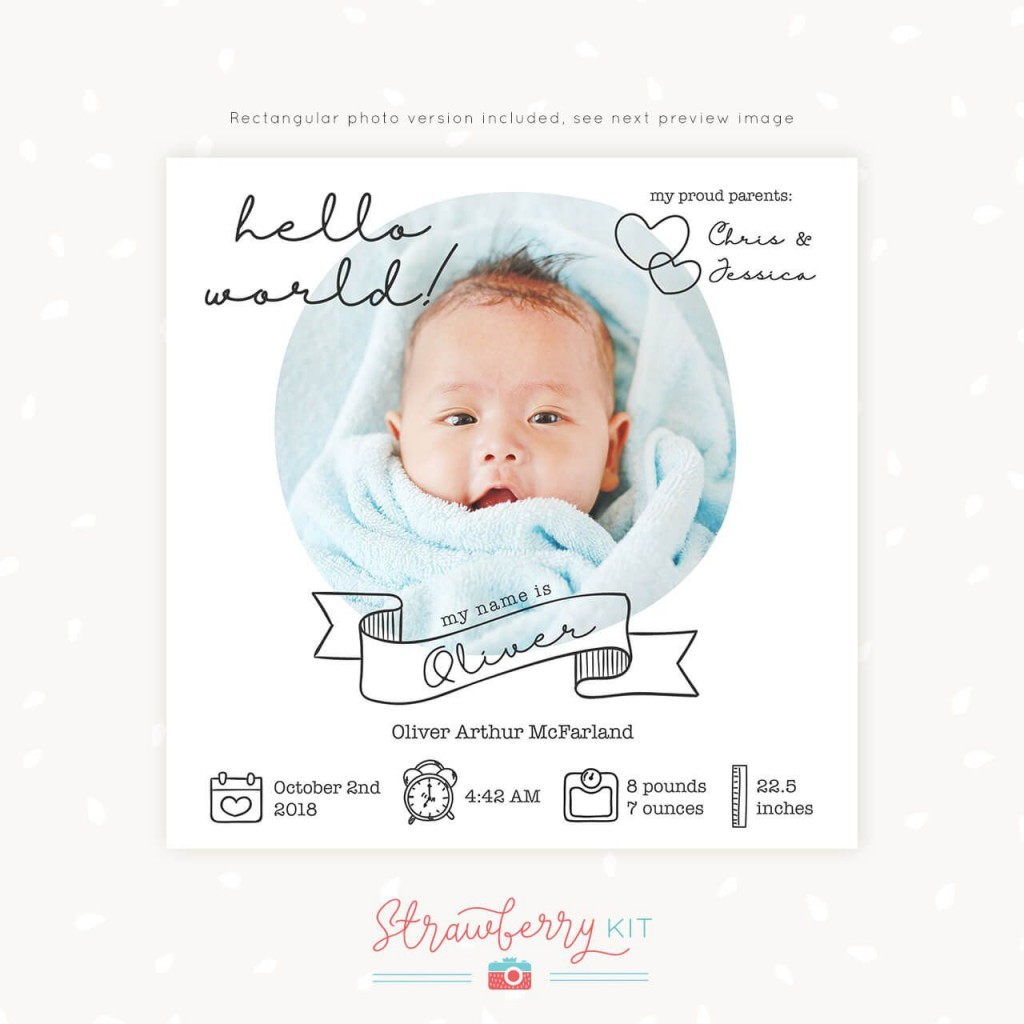 010 Stirring Free Baby Announcement Template Highest Clarity  Templates Boy Photoshop Printable Shower InviteLarge
